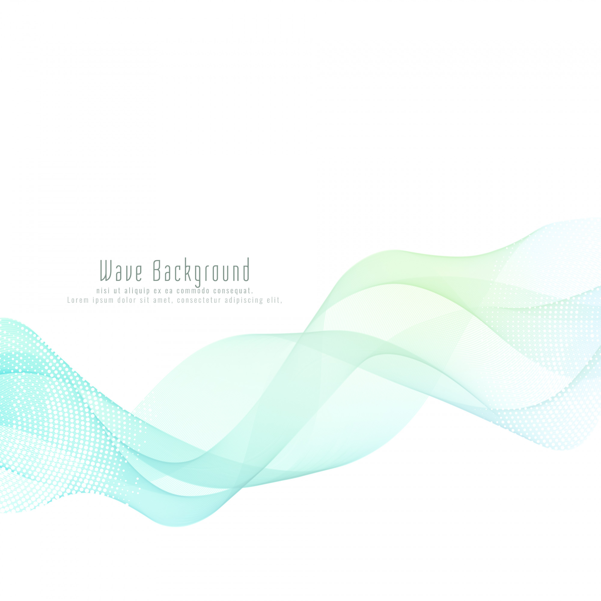 Abstract styish wave background