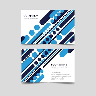 Abstract style blue business card template