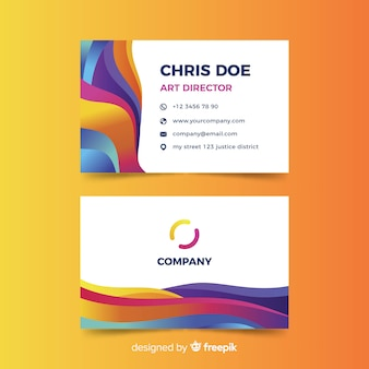 Abstract style of business card