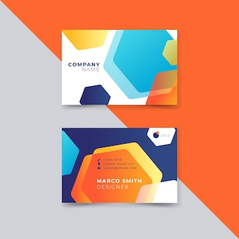 Abstract style colorful business card for company