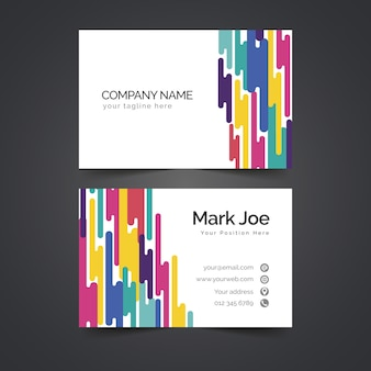 Abstract style colorful business card template