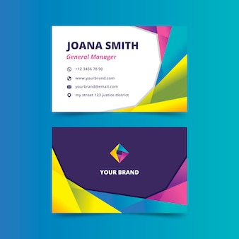 Abstract style for colorful business card