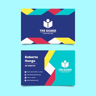Abstract style colorful business card