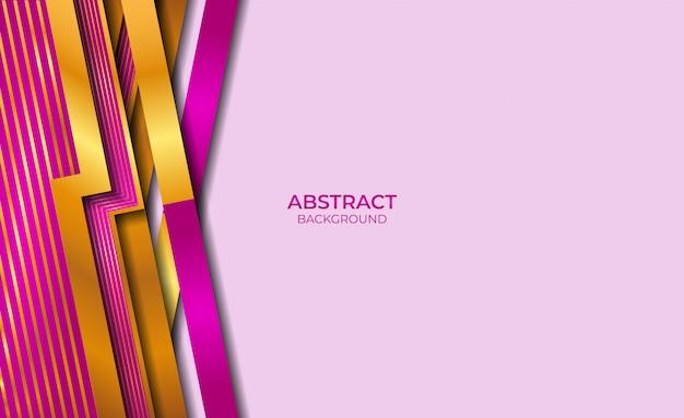 Абстрактный стиль золота и фиолетовый фон