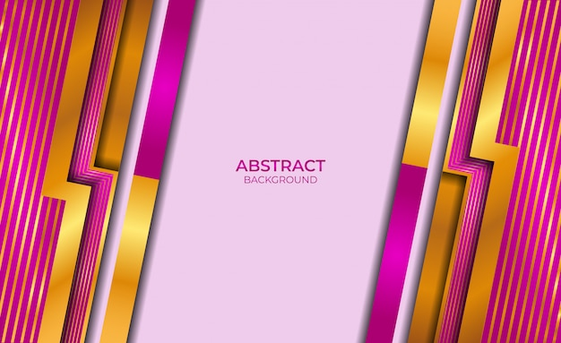 Abstract style gold and purple design