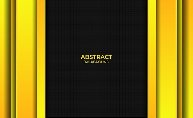 Abstract style gradient bright yellow background design