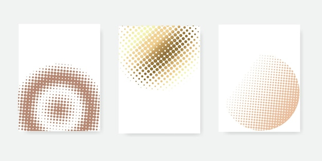 Abstract style halftone set concept for your graphic design