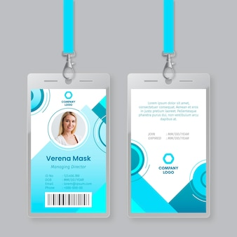 Abstract style id cards template