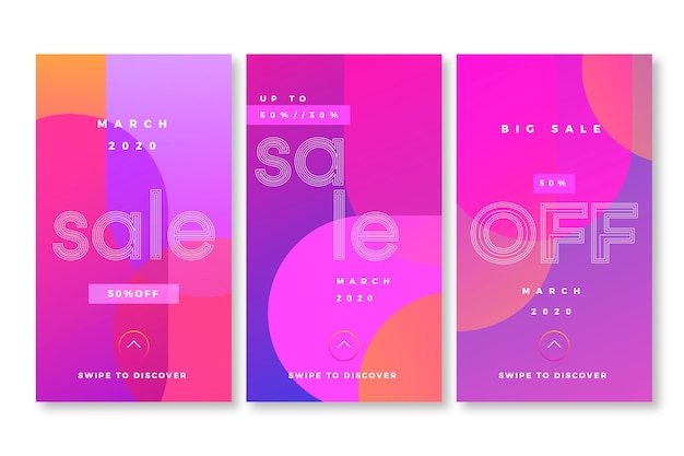 Abstract style instagram sale stories
