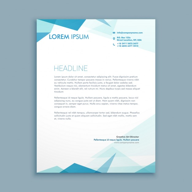 Abstract style letterhead