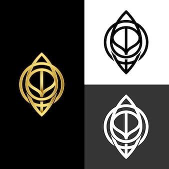 Abstract style for logo in two versions