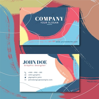 Abstract style painted business card