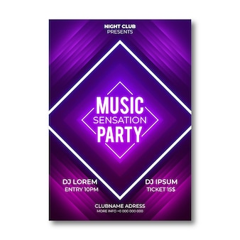 Abstract style party poster