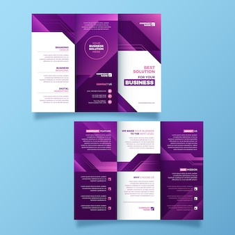 Abstract style trifold brochure template