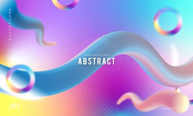 Abstract stylish 3d liquid modern background