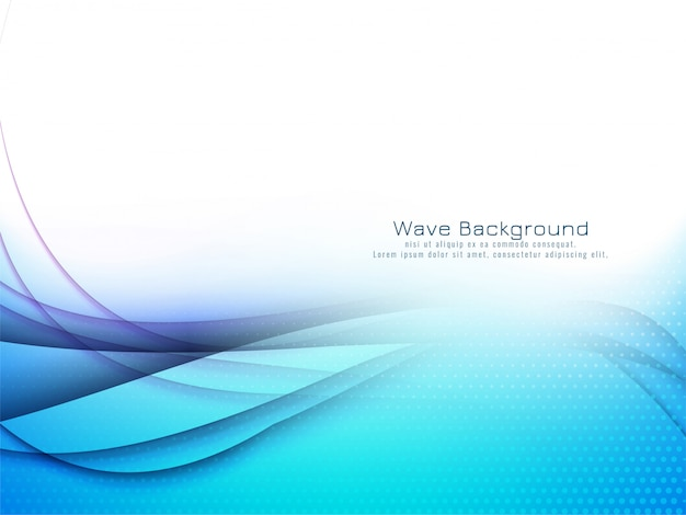 Abstract stylish blue wave background