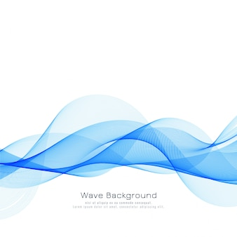 Abstract stylish blue wave