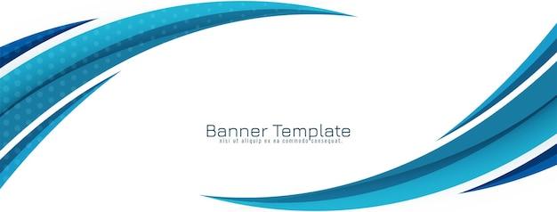 Abstract stylish blue wavy design background