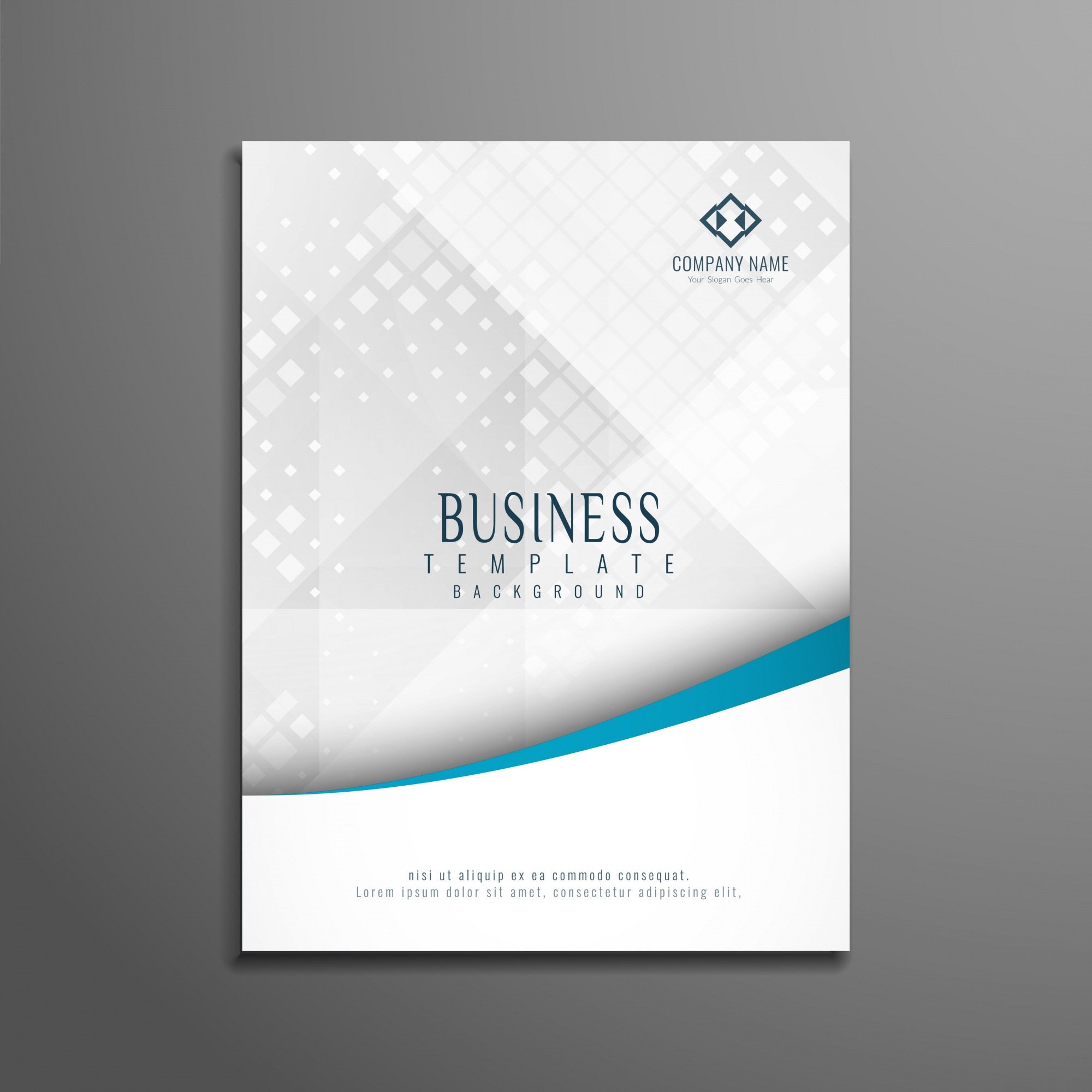 Abstract stylish business brochure template