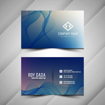 Abstract stylish business card background