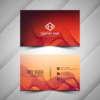 Abstract stylish business card design