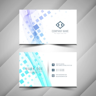 Abstract stylish business card template design