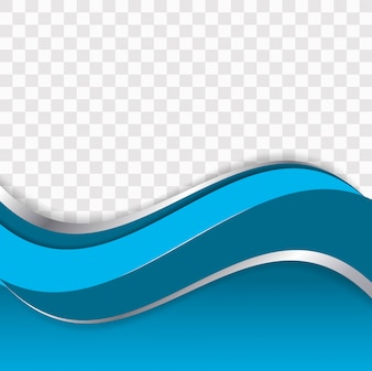 Abstract stylish business wave transparent background
