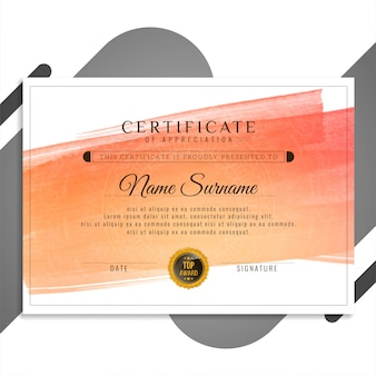 Abstract stylish certificate design presentation