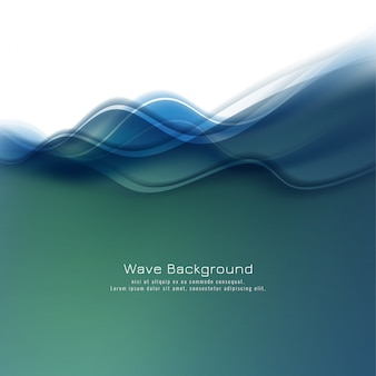 Абстрактный стильный красочный фон волны