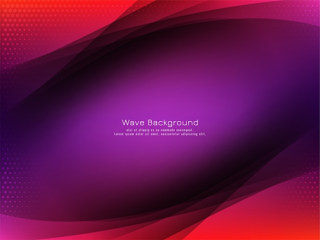 Abstract stylish colorful wave design background vector