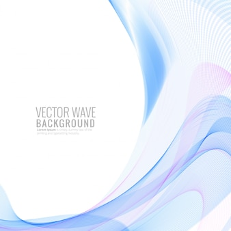 抽象的なスタイリッシュなカラフルな波の図