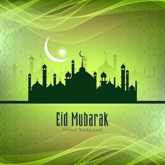 Abstract stylish eid mubarak festival background