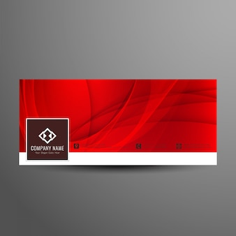 Abstract stylish facebook timeline banner template