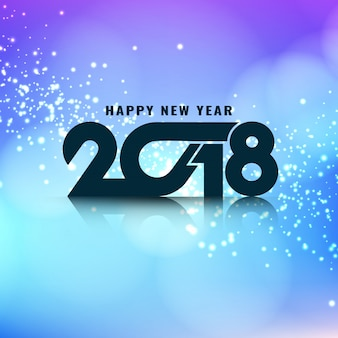 Abstract stylish glowing new year 2018 background