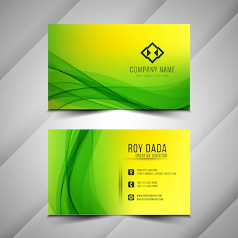 Abstract stylish green business card background