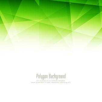 スタイリッシュな緑の多角形のデザインエレガントな背景