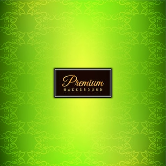 Abstract stylish green premium background
