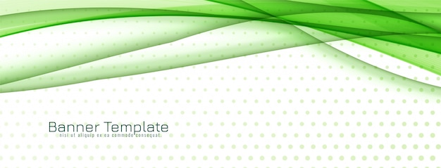 Abstract stylish green wave banner design