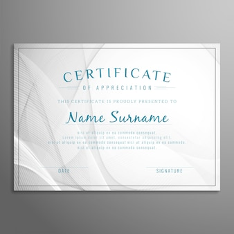 Abstract stylish grey certificate design