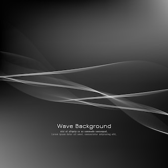 Abstract stylish grey wave background
