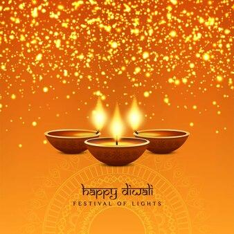 Abstract stylish happy diwali festival background