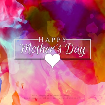 Abstract stylish Happy Mother's day colorful background