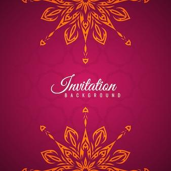Abstract stylish Invitation mandala background