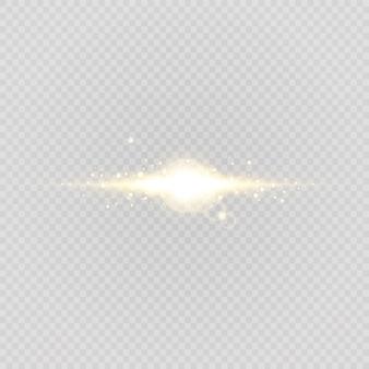 透明な背景に抽象的なスタイリッシュな光の効果