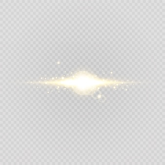 Abstract stylish light effect on a transparent background