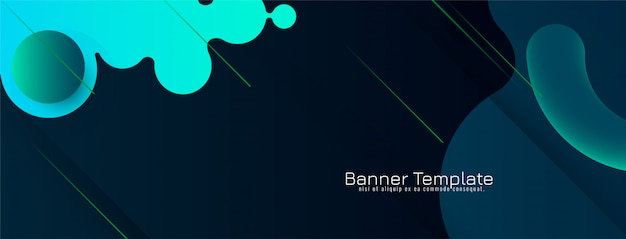 Abstract stylish modern banner design