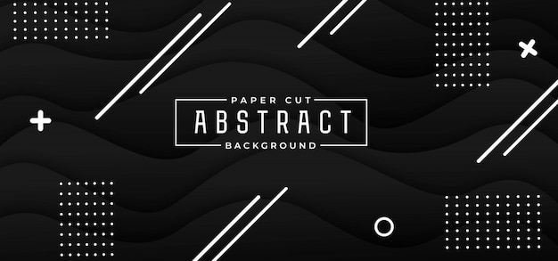 Abstract stylish paper cut background