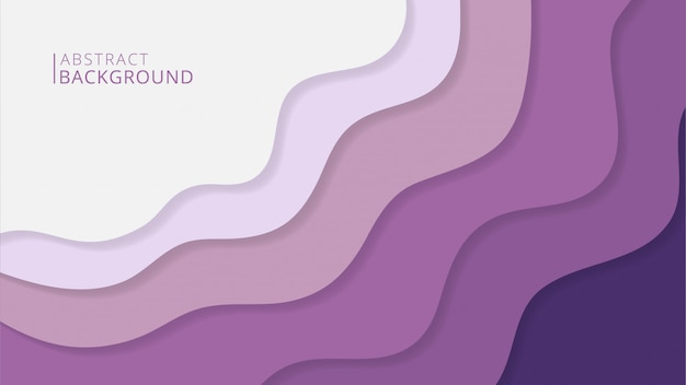 Абстрактный стильный papercut
