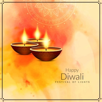 Abstract stylish religious happy diwali background