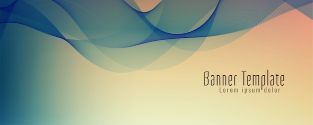 Abstract stylish wave banner design vector